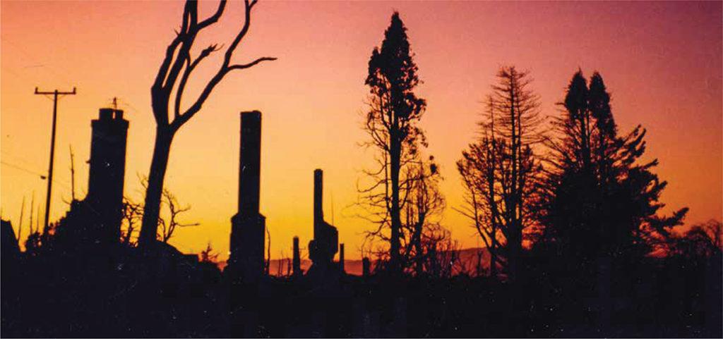 Photo: Firestorm, Oakland HIlls, 1991